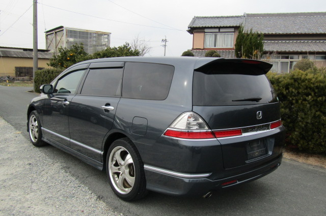 2006 Honda Odyssey 2.4 Aero Auto 7 Seater MPV (H50), Rear View, Passengers Side. Jap imports UK.