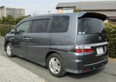 2008 Honda Stepwagon 2.4 Spada 24 Z Auto 8 Seater MPV (H36), Rear View, Passengers Side. Jap imports UK.