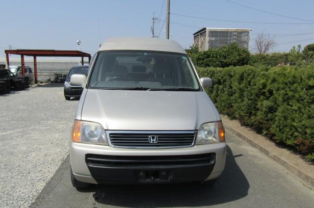 1999 Honda Stepwagon 2.0 Auto 4wd Field Deck Pop Top Day Van Camper MPV (H29), Front View, Jap imports from KV Cars Ltd.