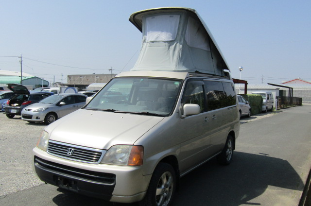 1999 Honda Stepwagon 2.0 Auto 4wd Field Deck Pop Top Day Van Camper MPV (H29), Front View, Passengers Side, Japanese import cars at All Japanese Motors.