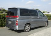 2006 Nissan Elgrand 2.5 Highway Star Optional 4wd Auro 8 Seater MPV (E66), Rear View, Drivers Side. Jap imports UK.