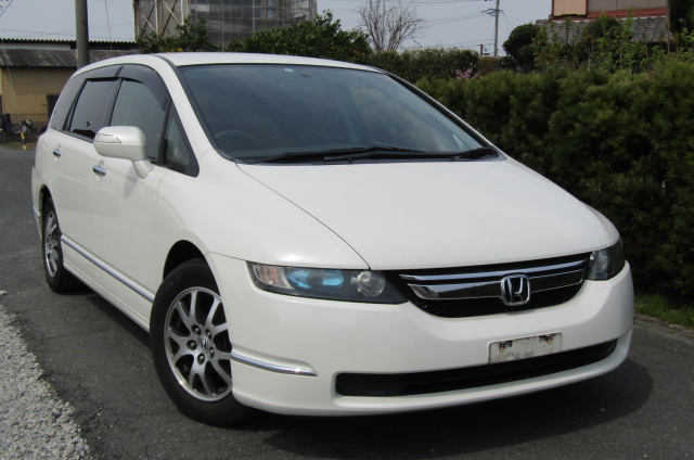 2007 Honda Odyssey 2.4 Ivtec Rb1 Auto 7 Seater MPV (H4), Front View, Drivers Side. Japanese imports.