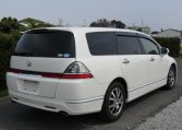 2007 Honda Odyssey 2.4 Ivtec Rb1 Auto 7 Seater MPV (H4), Rear View, Drivers Side. Japanese import cars.