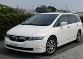 2007 Honda Odyssey 2.4 Ivtec Rb1 Auto 7 Seater MPV (H4), Front View, Passengers Side. Japanese imports for sale.