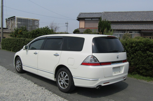 2007 Honda Odyssey 2.4 Ivtec Rb1 Auto 7 Seater MPV (H4), Rear View, Passengers Side. Jap imports UK.