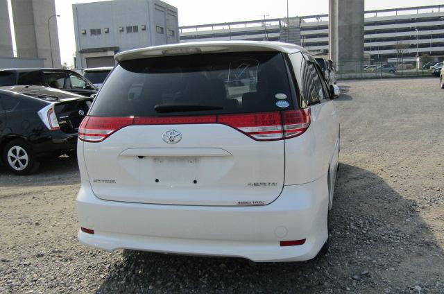 2007 Toyota Estima 2.4 Aeras G Edition 7 Seater MPV (C11), Rear View. Japanese import cars.