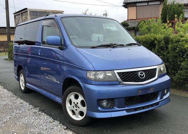 2002 Mazda Bongo 2.5 Rfs Aero Auto 8 Seater MPV (B2), Front View, Drivers Side. Japanese imports.