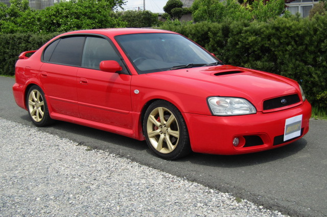 2003 Subaru Legacy 2.0 4wd Auto Blitzen Ltd Edn B4 Twin Turbo 4 Dr Saloon (S45), Front View, Drivers Side. Japanese imports.