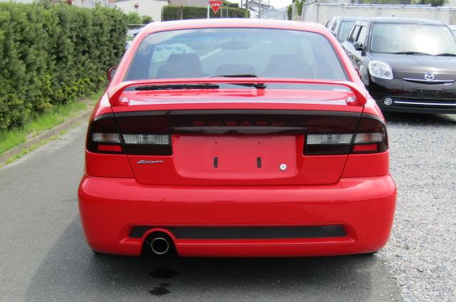 2003 Subaru Legacy 2.0 4wd Auto Blitzen Ltd Edn B4 Twin Turbo 4 Dr Saloon (S45), Rear View. Japanese import cars.