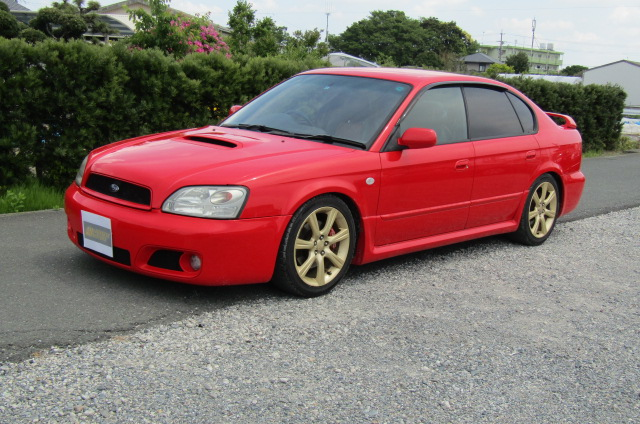 2003 Subaru Legacy 2.0 4wd Auto Blitzen Ltd Edn B4 Twin Turbo 4 Dr Saloon (S45), Front View, Passengers Side. Japanese imports for sale.