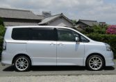 2007 Toyota Voxy 2.0 Zs Valve Matic Facelift Auto 8 Seater MPV (V28), Side View, Drivers Side. Japanese car imports UK.