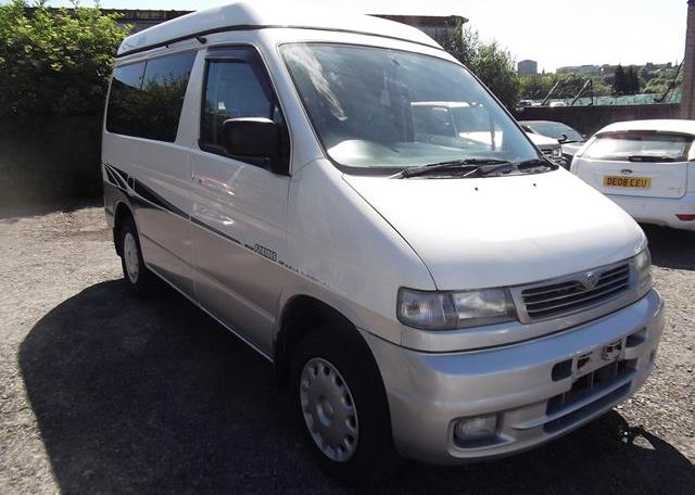 1997 Mazda Bongo 2.5 V6 Auto Freetop Friendee 8 Seater MPV OPO Top 4 Berth Camper (B9), Front View, Drivers Side. Japanese imports.