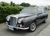1999 Mitsuoka Galue 2.0 Nissan Bentely R Type Replica 4 Dr Saloon (X48), Front View, Passengers Side, Japanese import cars.
