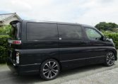 2005 Nissan Elgrand 2.5 E51 Highway Star Auto 8 Seater MPV (E29), Rear View, Drivers Side. Jap imports UK.