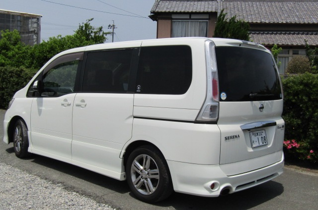 2008 Nissan Serena 2.0 Rider High Performance Spec Autech 8 Seater MPV (Y35) , Rear View, Passengers Side