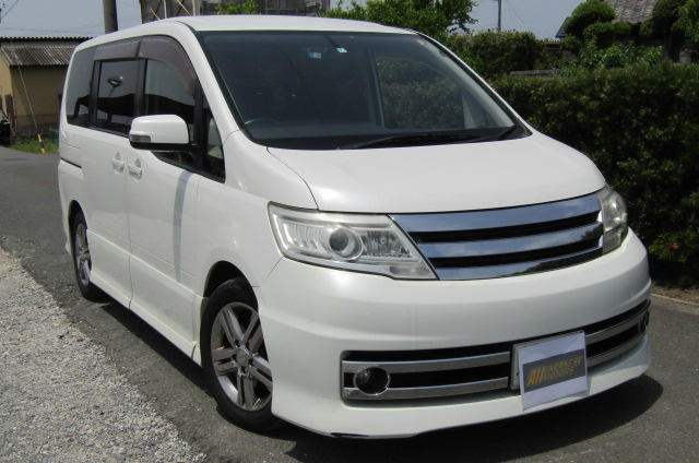 2008 Nissan Serena 2.0 Rider High Performance Spec Autech 8 Seater MPV (Y35) , Front View, Drivers Side, Japanese imports.