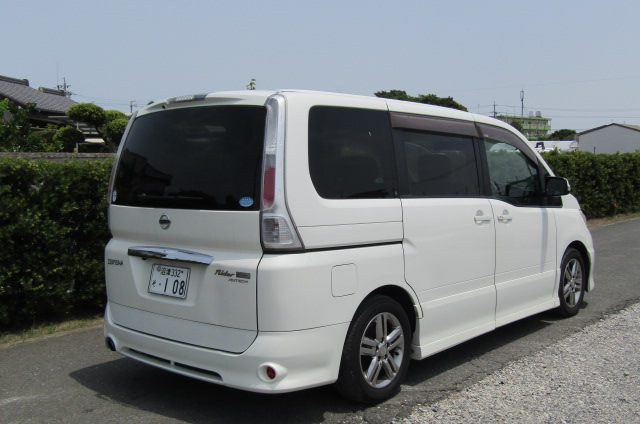 2008 Nissan Serena 2.0 Rider High Performance Spec Autech 8 Seater MPV (Y35) , Rear View, Drivers Side
