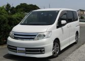 2008 Nissan Serena 2.0 Rider High Performance Spec Autech 8 Seater MPV (Y35) , Front View, Passengers Side, Japanese import cars.
