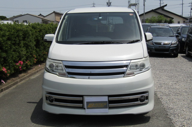 2008 Nissan Serena 2.0 Rider High Performance Spec Autech 8 Seater MPV (Y35) , Front View, Jap imports