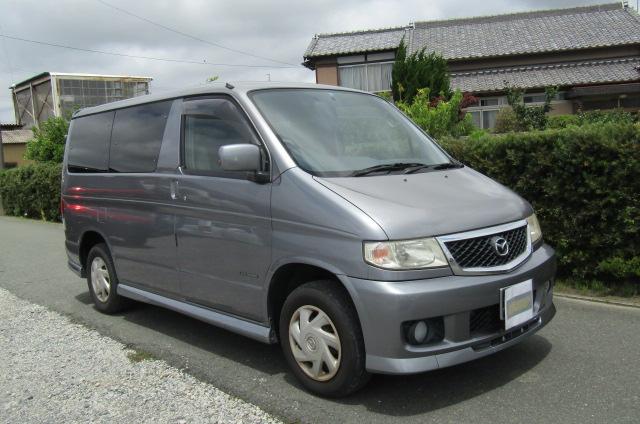 2003 Mazda Bongo 2.0 Sgew Aero City Runner Auto 8 Seater MPV (B41), Front View, Drivers Side. Japanese imports.