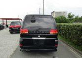 1998 Nissan Elgrand 3.3 V6 E50 Rider Auto 8 Seater MPV (E92), Rear View. Japanese import cars.