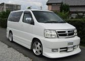 2000 Nissan Elgrand 3.5 Rider E50 8 Seater MPV (E5), Front View, Drivers Side. Japanese imports.