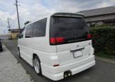 2000 Nissan Elgrand 3.5 Rider E50 8 Seater MPV (E5), Rear View, Passengers Side. Japanese car imports UK.