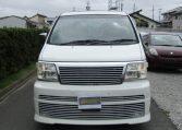 2001 Nissan Elgrand 3.5 E50 Rider Optional 4wd Auto 8 Seater MPV (E37), Front View. Jap imports.