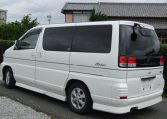 2001 Nissan Elgrand 3.5 E50 Rider Optional 4wd Auto 8 Seater MPV (E37), Rear View, Passengers Side. Japanese car imports UK.