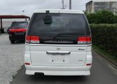 2001 Nissan Elgrand 3.5 E50 Rider Optional 4wd Auto 8 Seater MPV (E37), Rear View. Japanese import cars.