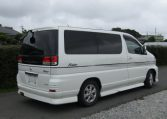 2001 Nissan Elgrand 3.5 E50 Rider Optional 4wd Auto 8 Seater MPV (E37), Rear View, Drivers Side. Jap imports UK.