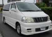 2001 Toyota Grand Hiace 3.4 V6 G Aero Auto 8 Seater MPV (K31), Front View, Drivers Side