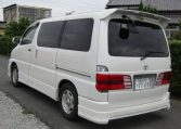 2001 Toyota Grand Hiace 3.4 V6 G Aero Auto 8 Seater MPV (K31), Rear View, Passengers Side
