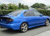 2003 Subaru Legacy 2.0 4wd Auto Ltd Edn B4 Rsk Edn Twin Turbo 4 Dr Saloon (S4), Rear View, Drivers Side. Jap imports UK.