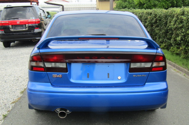 2003 Subaru Legacy 2.0 4wd Auto Ltd Edn B4 Rsk Edn Twin Turbo 4 Dr Saloon (S61), Rear View. Japanese import cars.