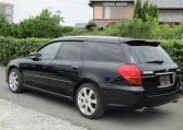2003 Subaru Legacy 2.0 Bp5 GT Turbo Twinscroll Spec B 4WD Auto Estate (S5), Rear View, Passengers Side. Japanese car imports UK.