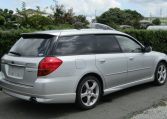 2005 Subaru Legacy 2.0 Bp5 Gt Turbo 4WD Auto Estate (S77), Rear View, Drivers Side. Jap imports UK.
