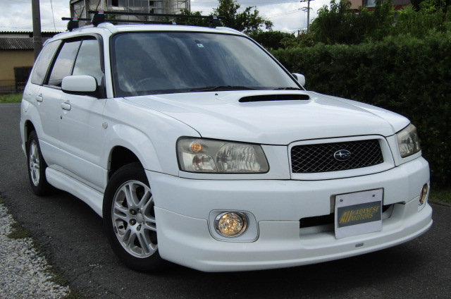 2004 Subaru Forester 2.0 4WD Cross Sports Turbo Sg5 Estate (S12), Front View, Drivers Side. Japanese imports.