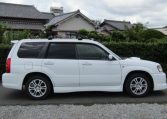 2004 Subaru Forester 2.0 4WD Cross Sports Turbo Sg5 Estate (S12), Side View, Drivers Side. Import Japanese cars uk.