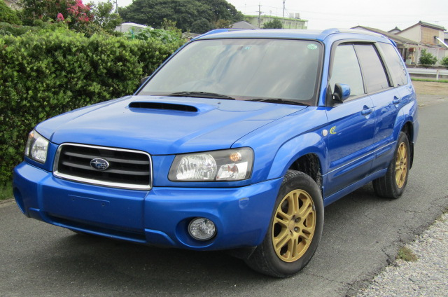 2005 Subaru Forester 2.0 Sg5 Xt Wr Ltd Edn Turbo 4wd Auto Estate (S1), Front View, Passengers Side. Japanese imports for sale.