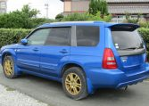 2005 Subaru Forester 2.0 Sg5 Xt Wr Ltd Edn Turbo 4wd Auto Estate (S1), Rear View, Passengers Side. Japanese car imports UK.