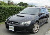 2005 Subaru Legacy 2.0 Bp5 Gt Turbo 4WD Auto Estate (S77), Front View, Passengers Side. Japanese imports for sale.