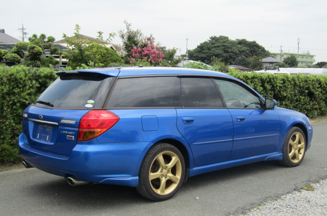 2005 Subaru Legacy 2.0 Bp5 Gt Wr Ltd Edn Turbo 4wd Auto Estate (S9), Rear View, Drivers Side. Jap imports UK.