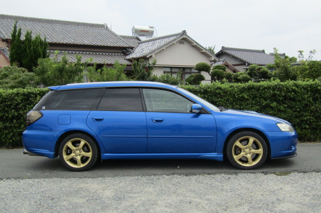 2005 Subaru Legacy 2.0 Bp5 Gt Wr Ltd Edn Turbo 4wd Auto Estate(S65), Side View, Drivers Side. Import Japanese cars uk.