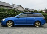 2005 Subaru Legacy 2.0 Bp5 Gt Wr Ltd Edn Turbo 4wd Auto Estate(S65), Side View, Passengers Side. Import Japanese cars uk.