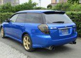 2005 Subaru Legacy 2.0 Bp5 Gt Wr Ltd Edn Turbo 4wd Auto Estate(S65), Rear View, Passengers Side. Japanese car imports UK.