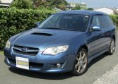 2006 Subaru Legacy 2.0 4WD GT Turbo Auto Estate (S55), Front View, Passengers Side. Japanese imports for sale.