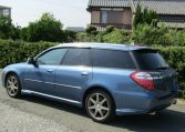 2006 Subaru Legacy 2.0 4WD GT Turbo Auto Estate (S55), Rear View, Passengers Side. Japanese car imports UK.