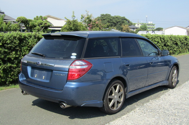 2006 Subaru Legacy 2.0 4WD GT Turbo Auto Estate (S55), Rear View, Drivers Side. Jap imports UK.