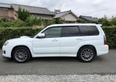 2007 Subaru Forester 2.0 Sg5 Cross Sports Turbo Facelift 4wd Auto Estate (S87), Side View, Passengers Side. Import Japanese cars uk.